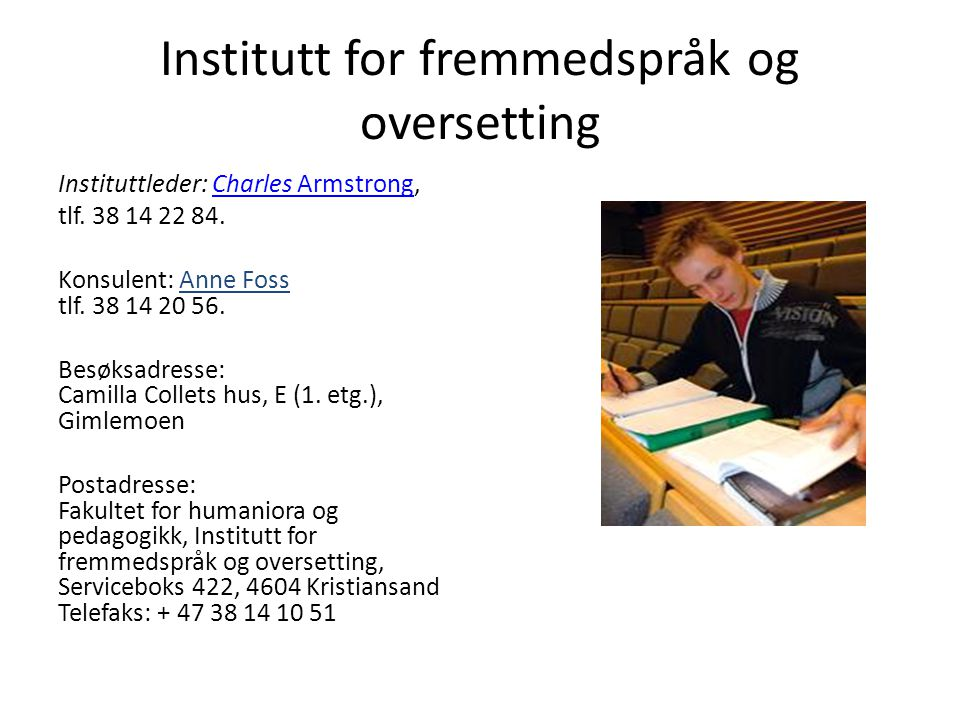 Institutt for fremmedspråk og oversetting