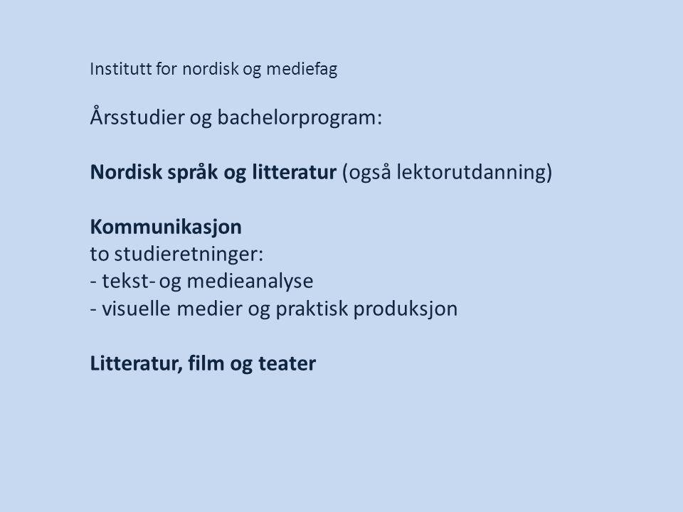 Årsstudier og bachelorprogram: