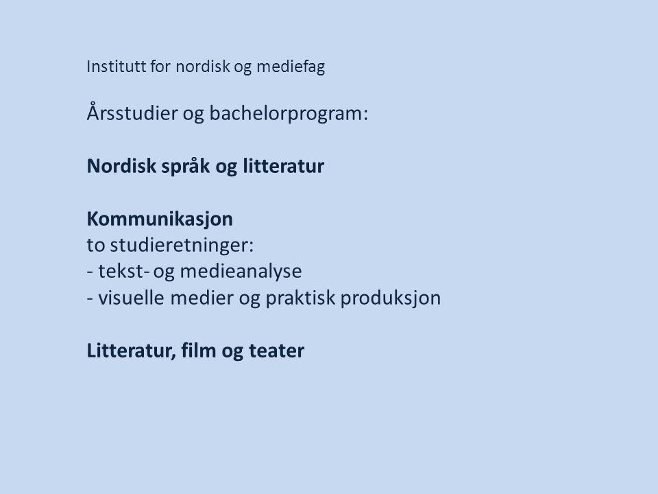Årsstudier og bachelorprogram: Nordisk språk og litteratur