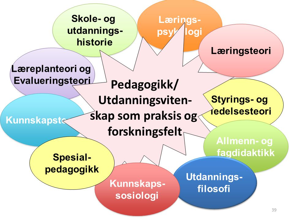 Pedagogikk/ Utdanningsviten- skap som praksis og forskningsfelt