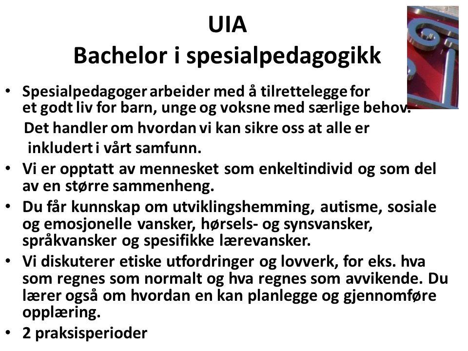 UIA Bachelor i spesialpedagogikk