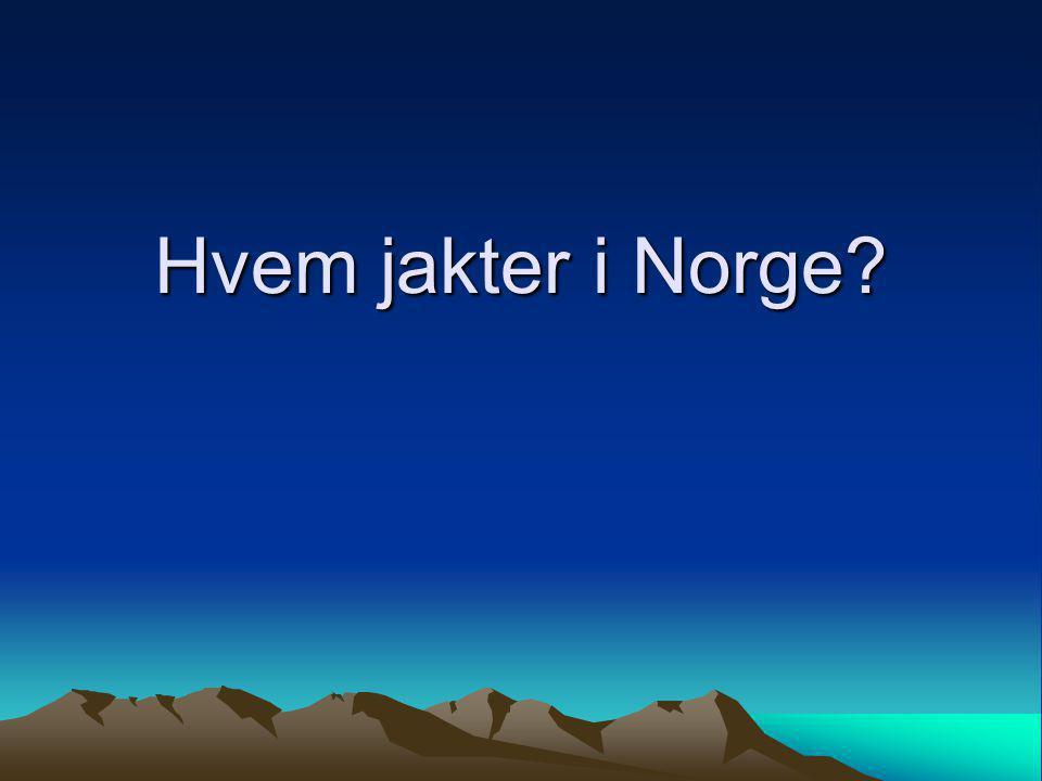 Hvem jakter i Norge