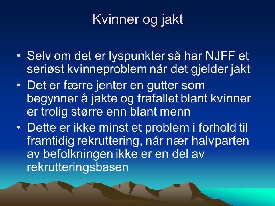 Kvinner og jakt Selv om det er lyspunkter så har NJFF et seriøst kvinneproblem når det gjelder jakt.