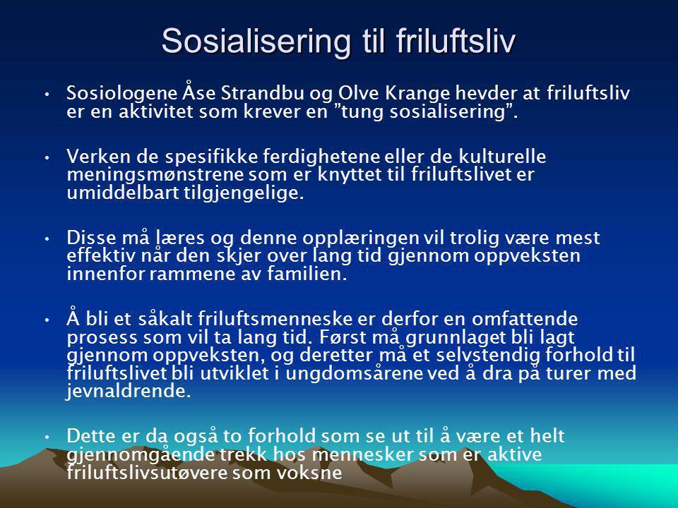 Sosialisering til friluftsliv