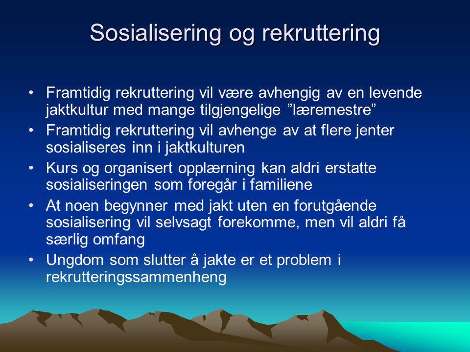Sosialisering og rekruttering