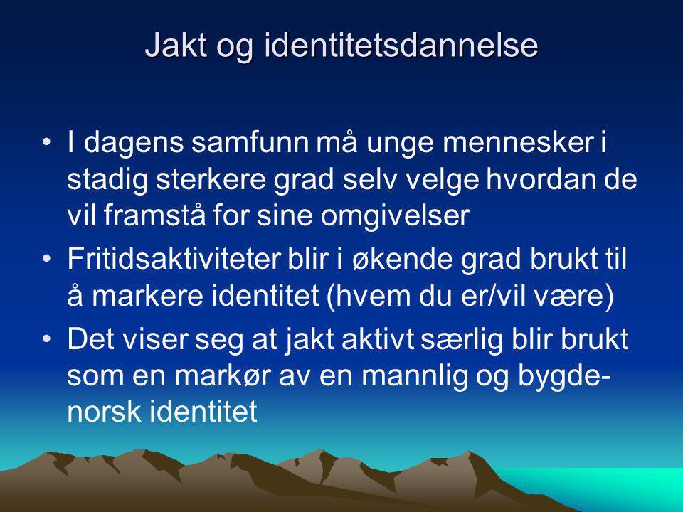 Jakt og identitetsdannelse