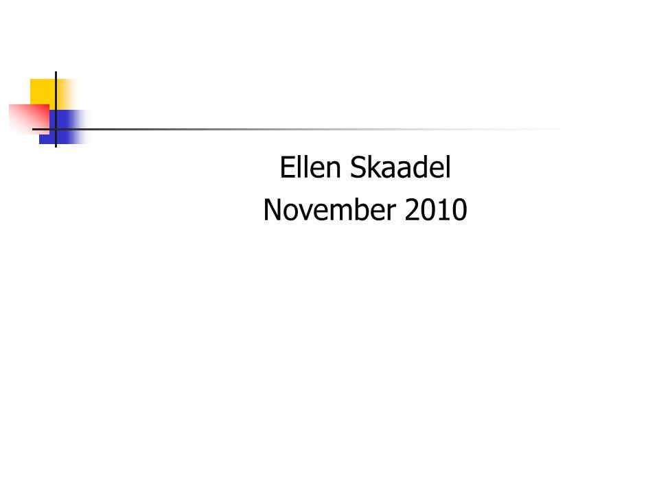 Ellen Skaadel November 2010