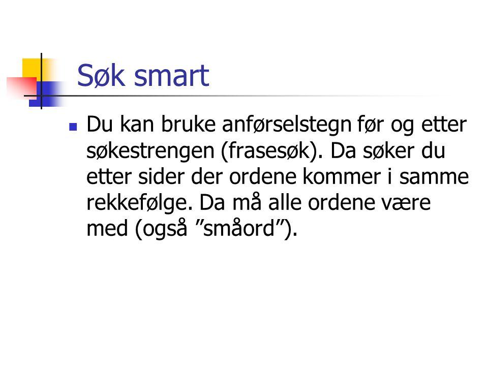 Søk smart