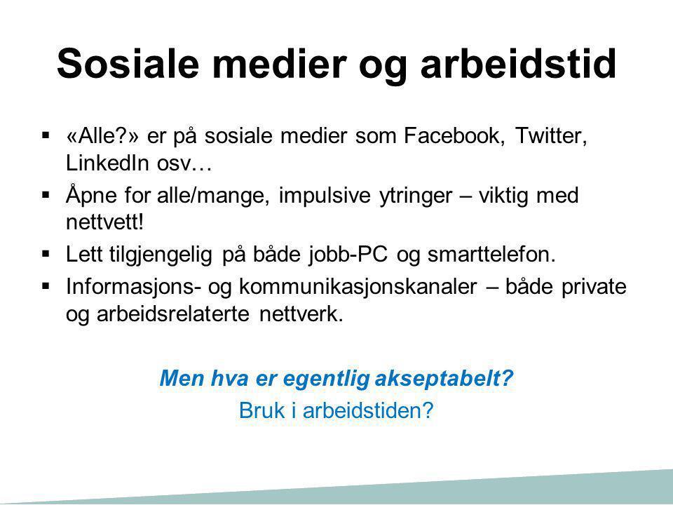 Sosiale medier og arbeidstid