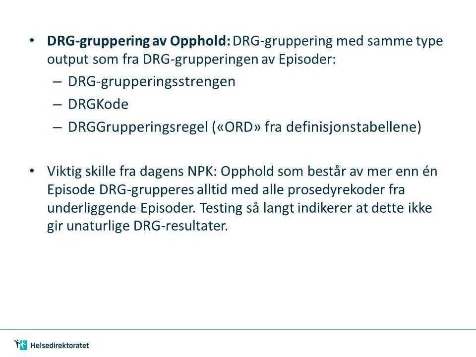 DRG-grupperingsstrengen DRGKode