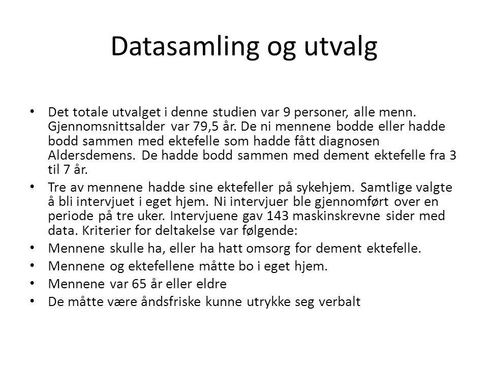 Datasamling og utvalg