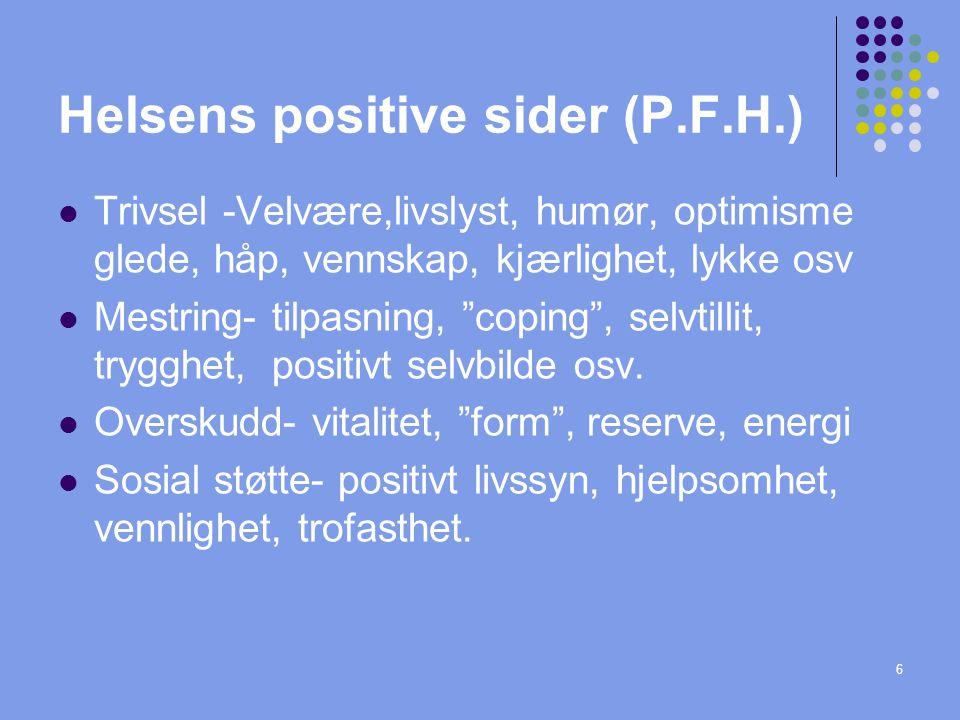 Helsens positive sider (P.F.H.)