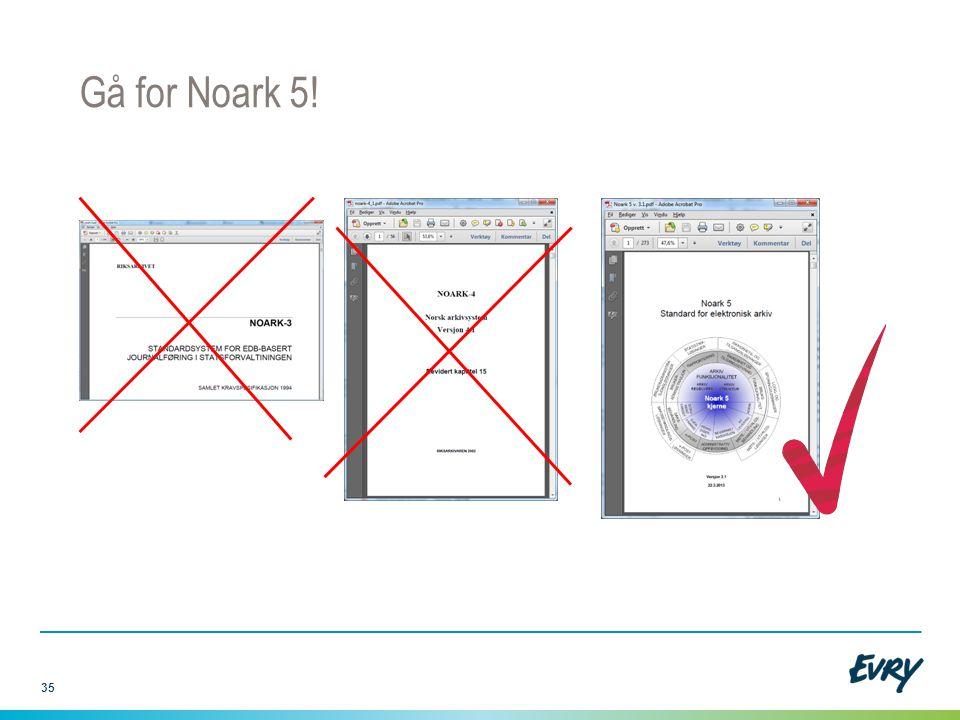 Gå for Noark 5! Noark 3: Selv om dataene i arkivet er fra denne tiden: Sak/arkivsystemet har garantert mer info, så hvorfor miste det