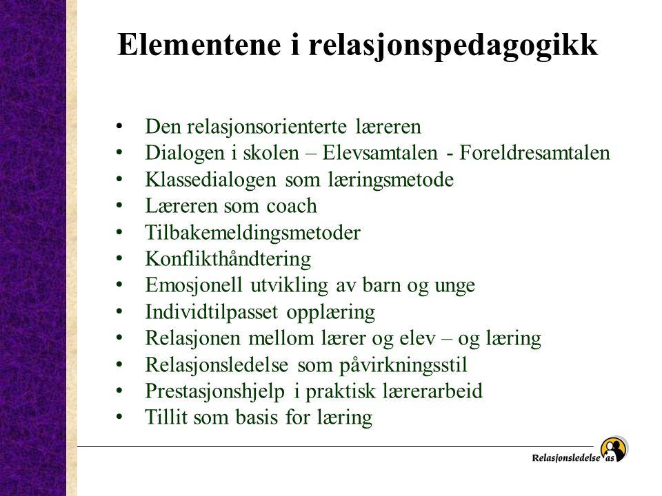 Elementene i relasjonspedagogikk