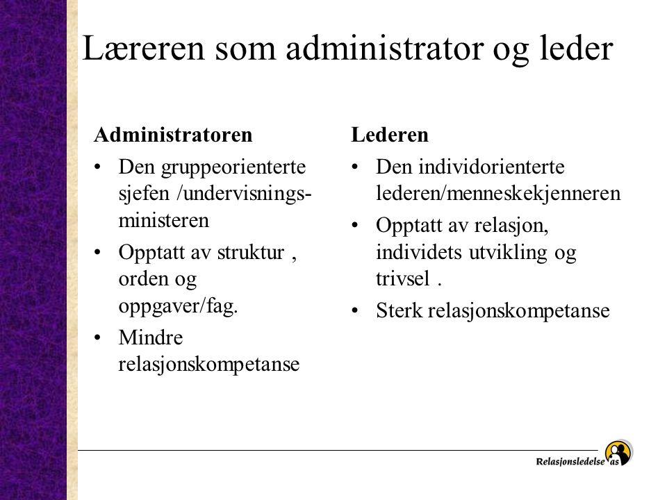 Læreren som administrator og leder