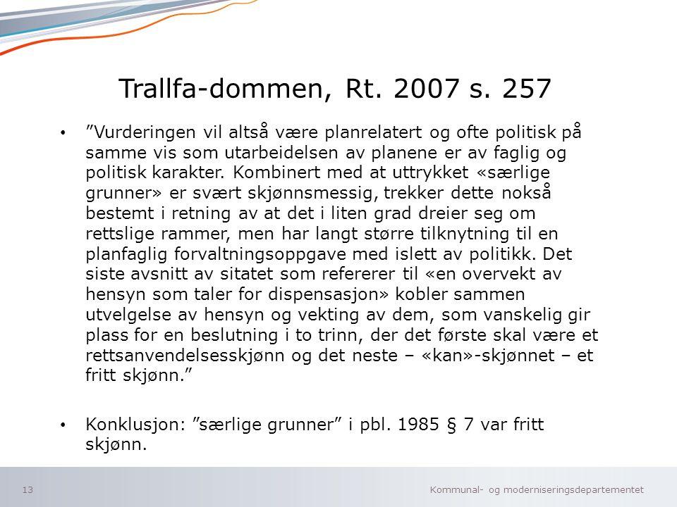 Trallfa-dommen, Rt. 2007 s. 257