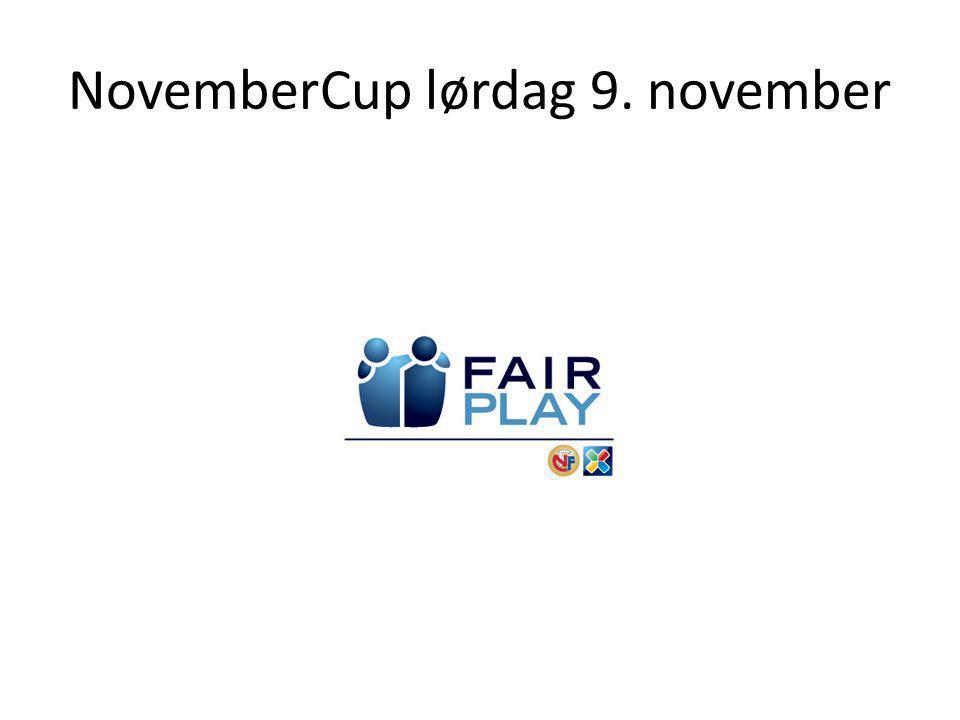 NovemberCup lørdag 9. november