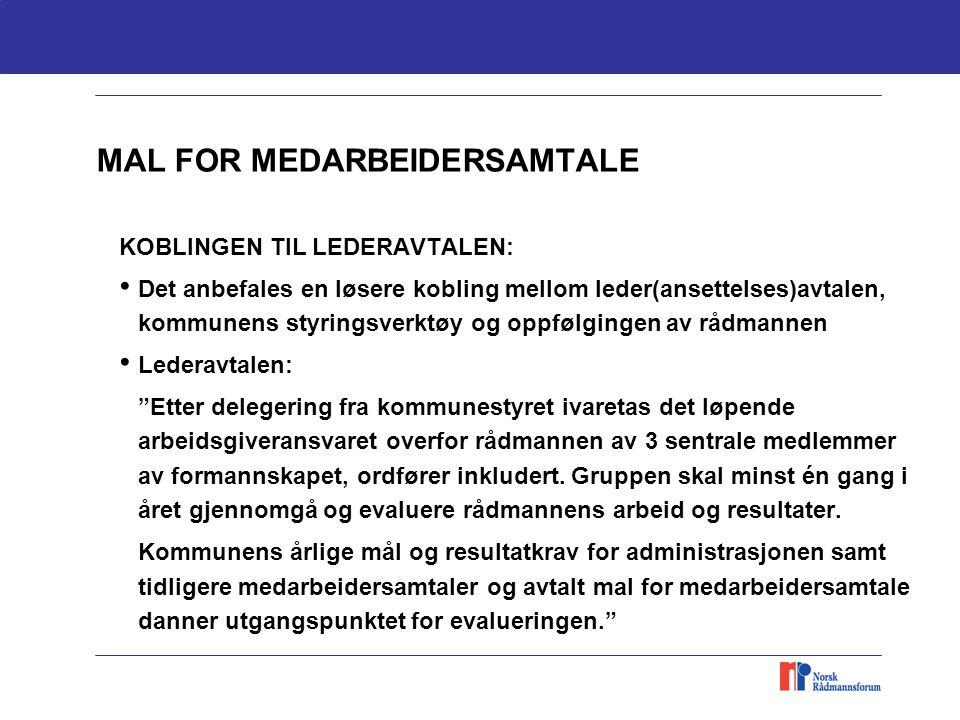 MAL FOR MEDARBEIDERSAMTALE