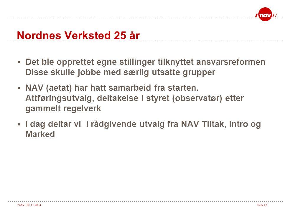Nordnes Verksted 25 år Det ble opprettet egne stillinger tilknyttet ansvarsreformen Disse skulle jobbe med særlig utsatte grupper.