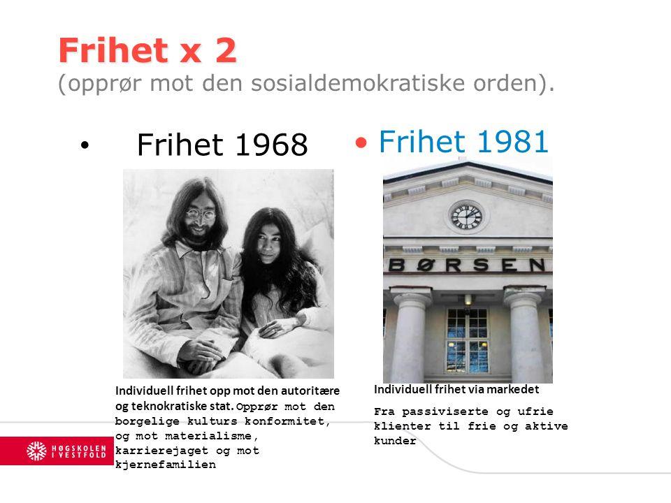 Frihet x 2 (opprør mot den sosialdemokratiske orden).