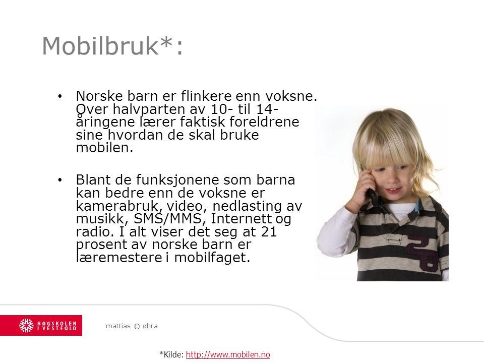 Mobilbruk*: Norske barn er flinkere enn voksne. Over halvparten av 10- til 14-åringene lærer faktisk foreldrene sine hvordan de skal bruke mobilen.