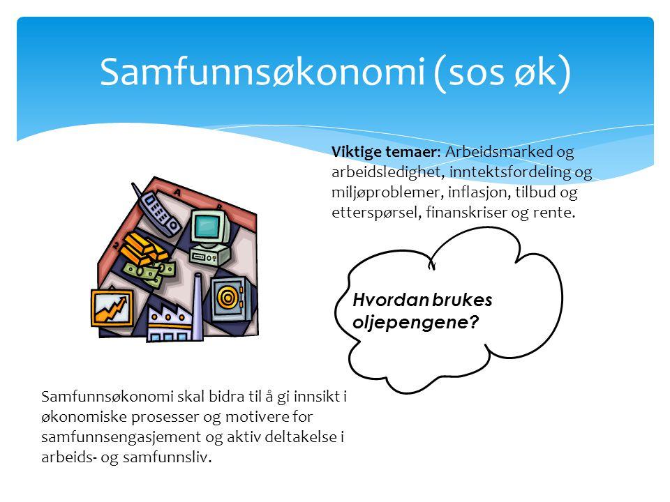 Samfunnsøkonomi (sos øk)