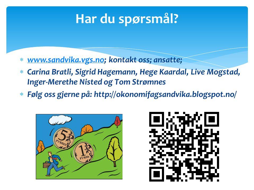 Har du spørsmål www.sandvika.vgs.no; kontakt oss; ansatte;