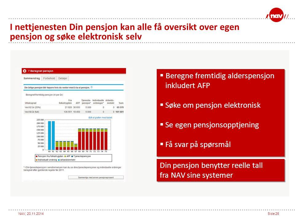 I nettjenesten Din pensjon kan alle få oversikt over egen pensjon og søke elektronisk selv