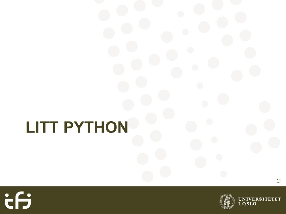 Litt Python