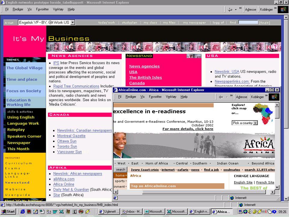 … eller kanskje besøkt The Newsstand hvor en kan lese aviser fra hele den engelskspråklige verden, f. eks Africa Online som dekker Mauritius-konferansen om eReadiness.