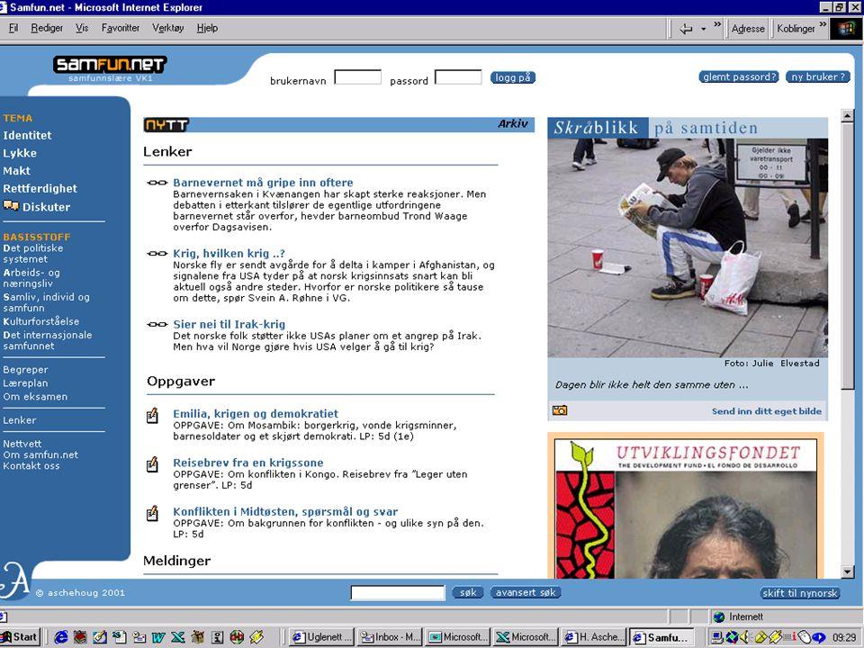 … eller jeg kunne ha fortalt om vår første LMS-baserte nett-tjeneste, samfun.net, som hadde 600000 sidevisninger i september...