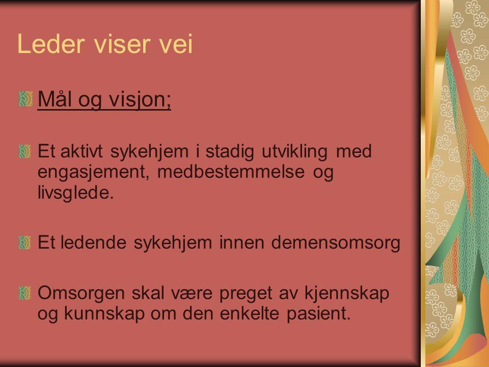 Leder viser vei Mål og visjon;