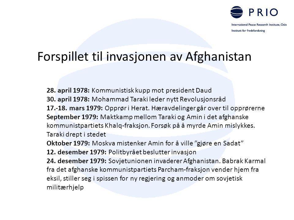 Forspillet til invasjonen av Afghanistan