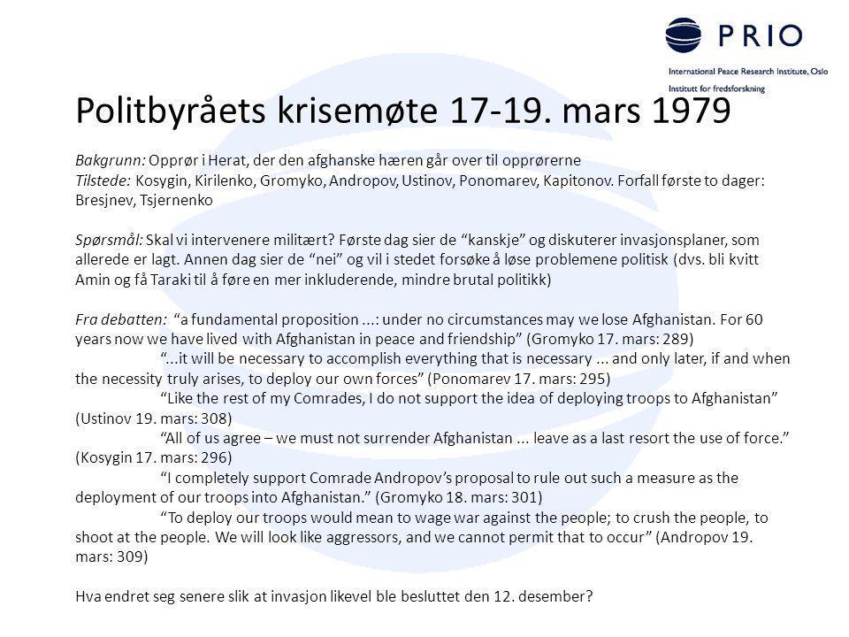 Politbyråets krisemøte 17-19. mars 1979