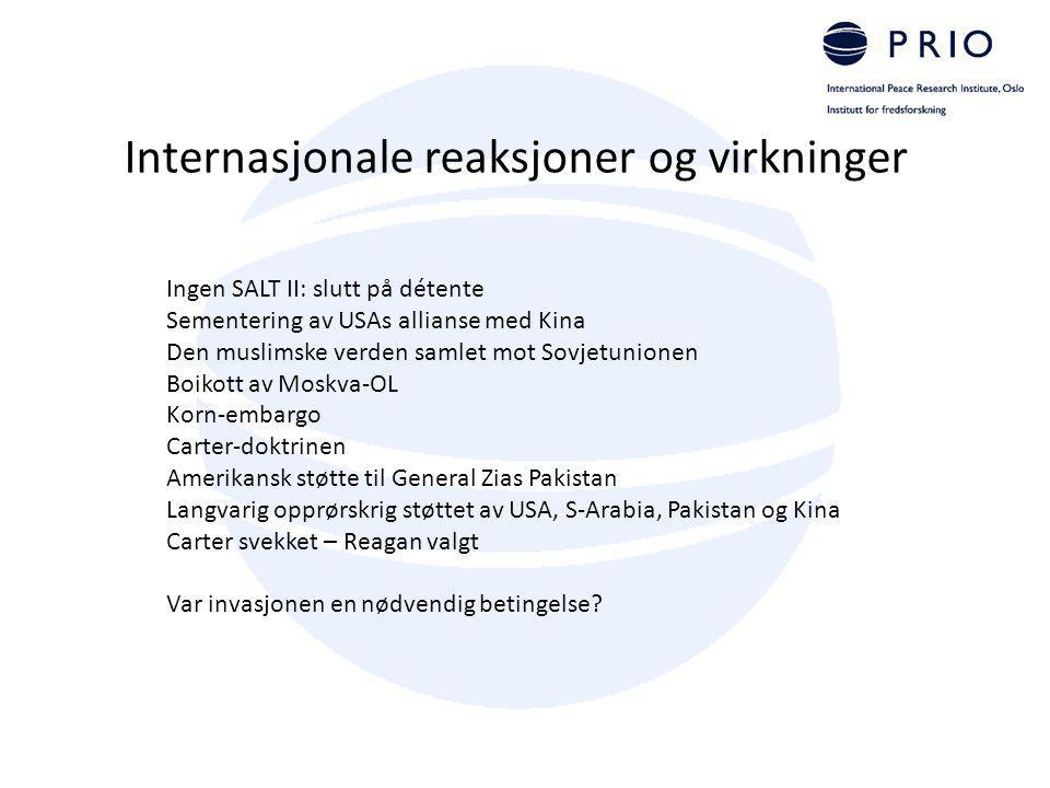 Internasjonale reaksjoner og virkninger