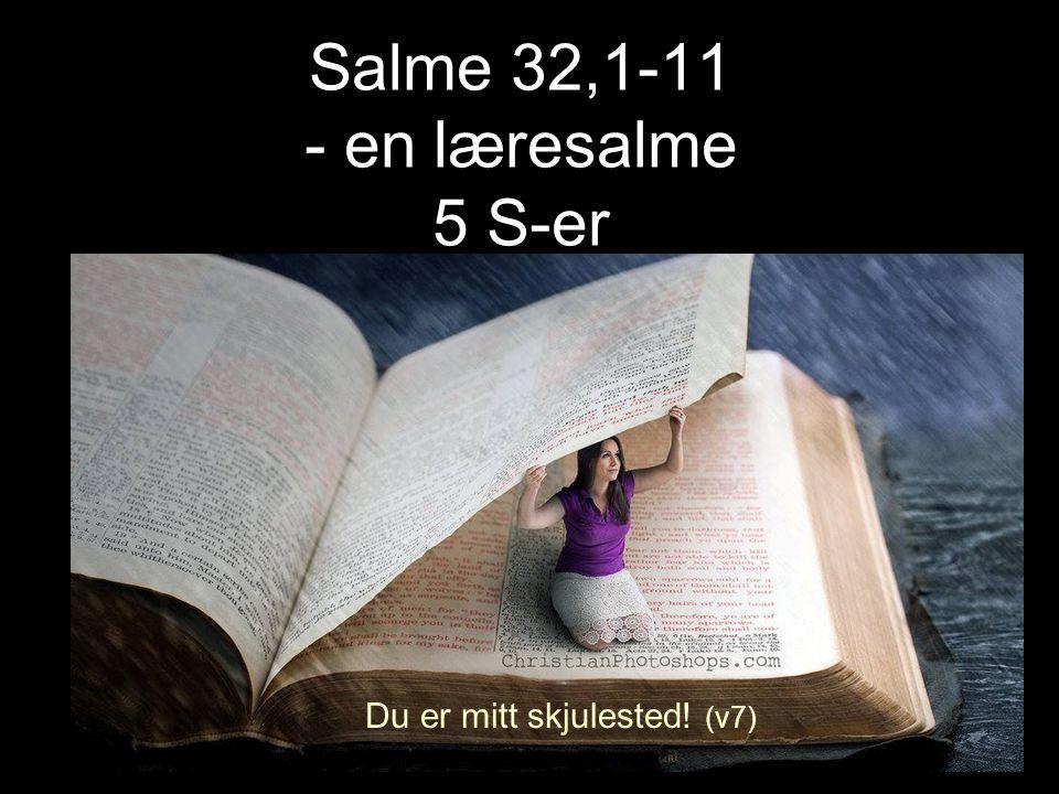 Salme 32,1-11 - en læresalme 5 S-er