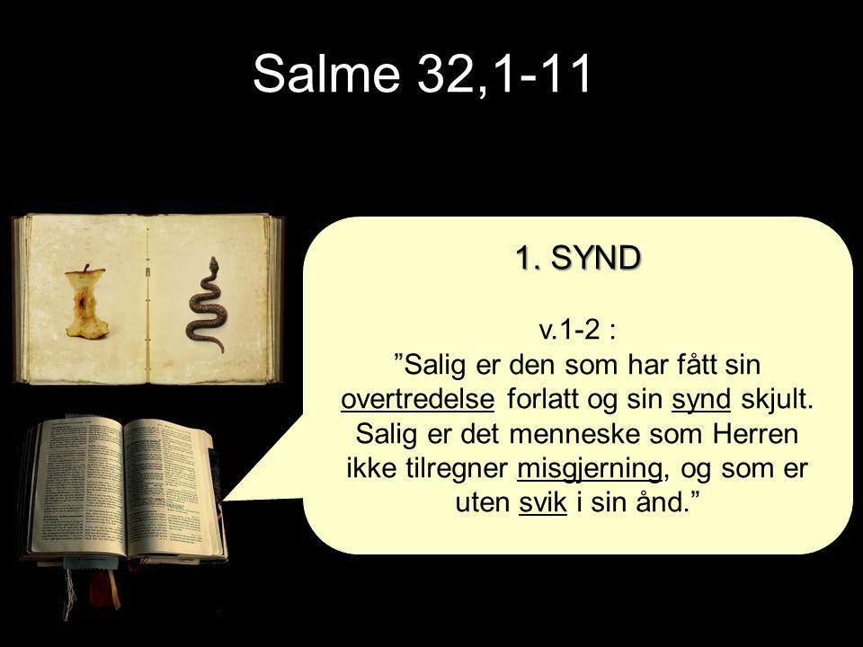 Salme 32,1-11 1. SYND. v.1-2 :