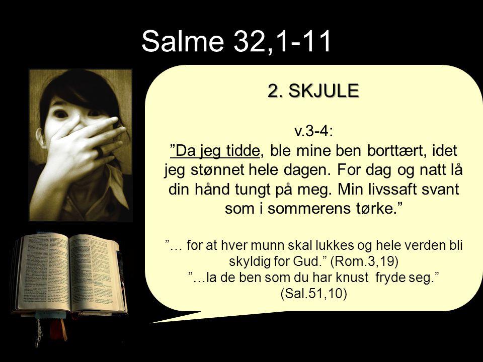 …la de ben som du har knust fryde seg. (Sal.51,10)