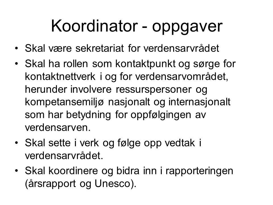 Koordinator - oppgaver
