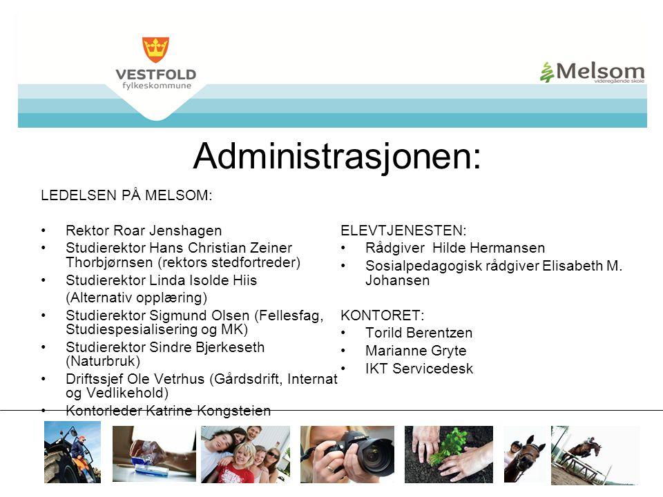 Administrasjonen: LEDELSEN PÅ MELSOM: Rektor Roar Jenshagen