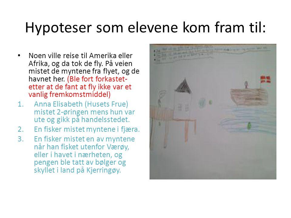 Hypoteser som elevene kom fram til: