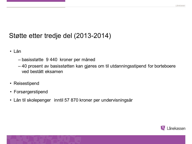 Støtte etter tredje del (2013-2014)