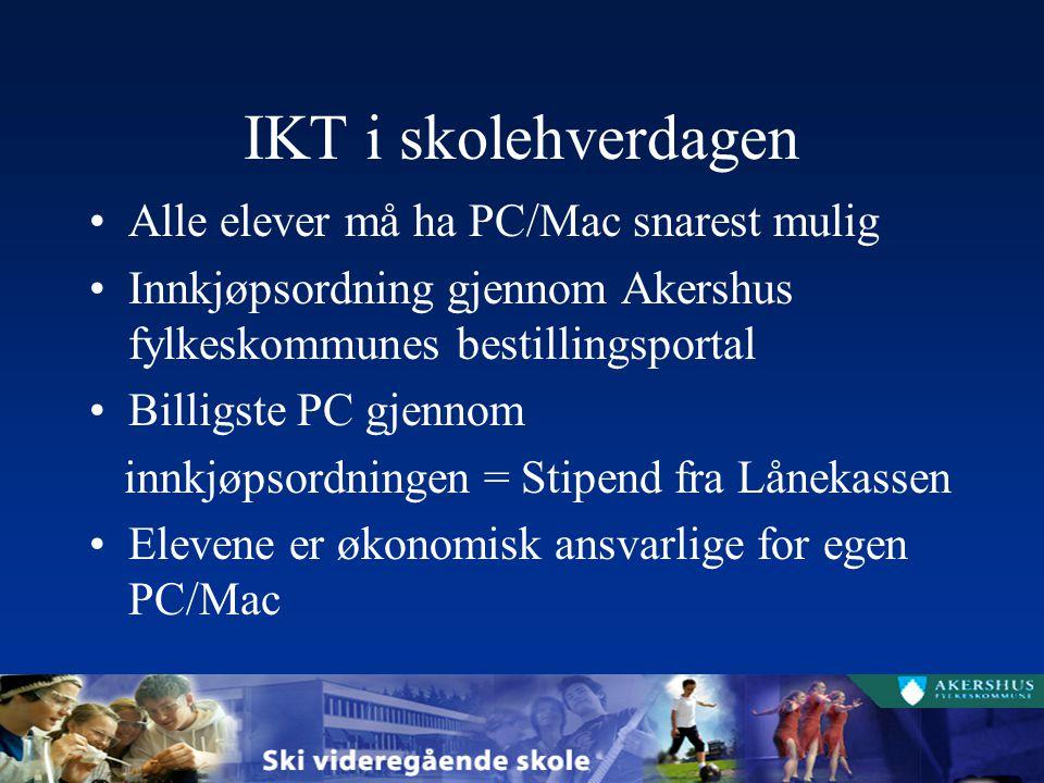 IKT i skolehverdagen Alle elever må ha PC/Mac snarest mulig