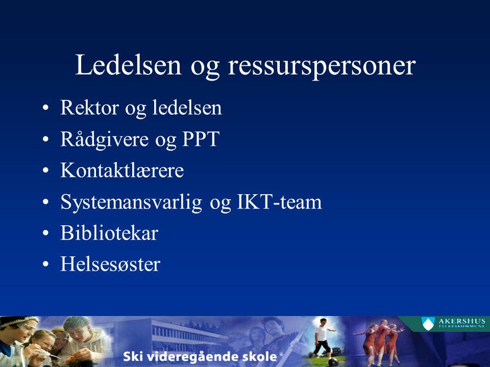 Ledelsen og ressurspersoner