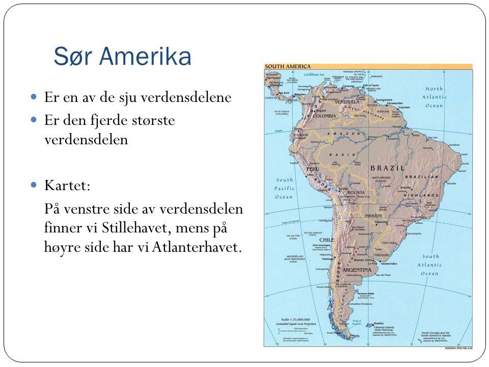 Sør Amerika Er en av de sju verdensdelene