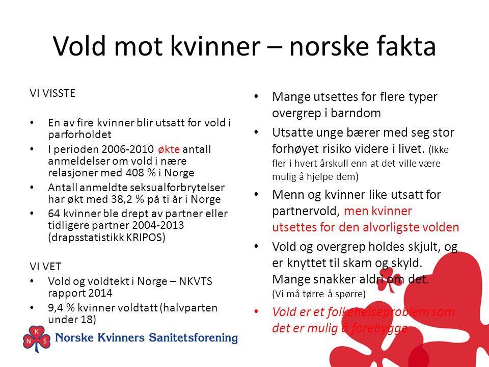 Vold mot kvinner – norske fakta