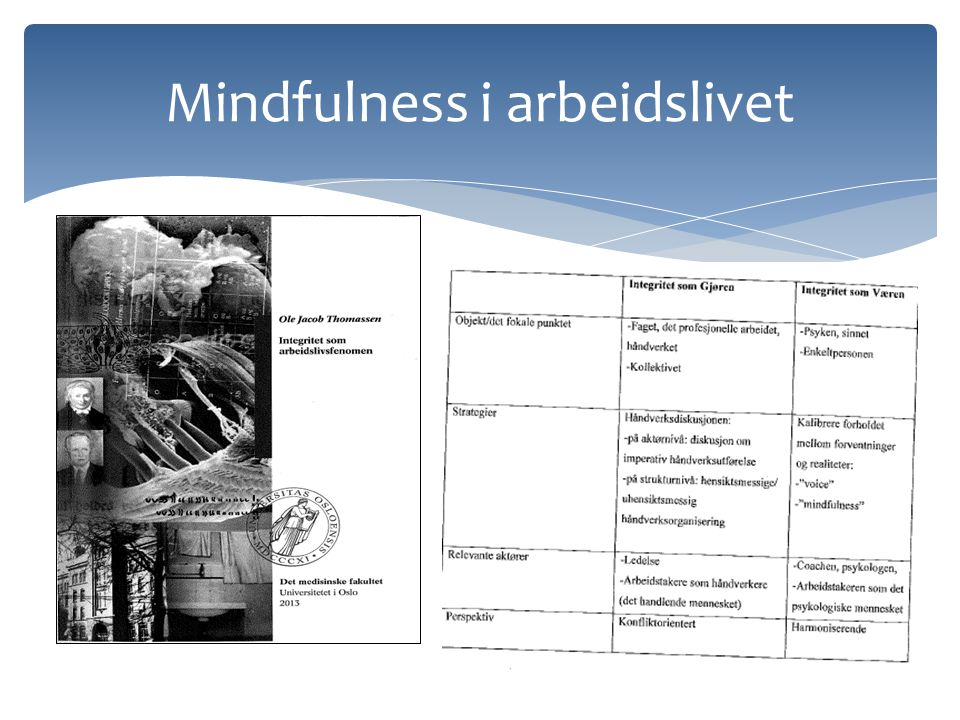 Mindfulness i arbeidslivet