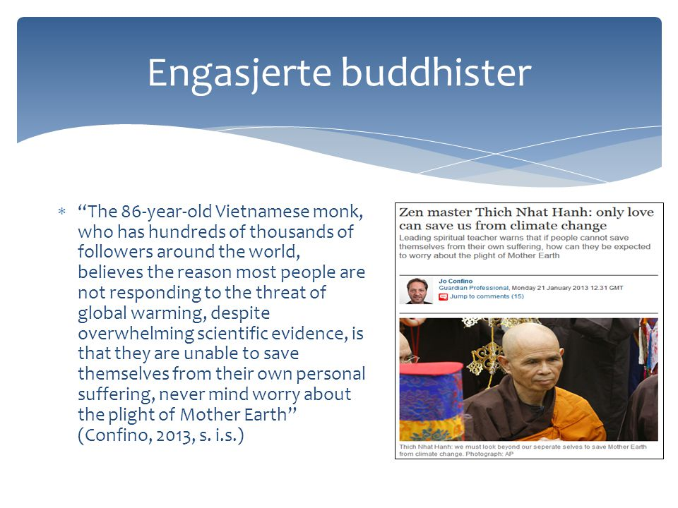Engasjerte buddhister