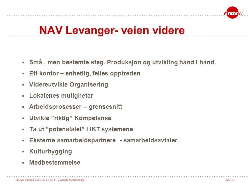 NAV Levanger- veien videre