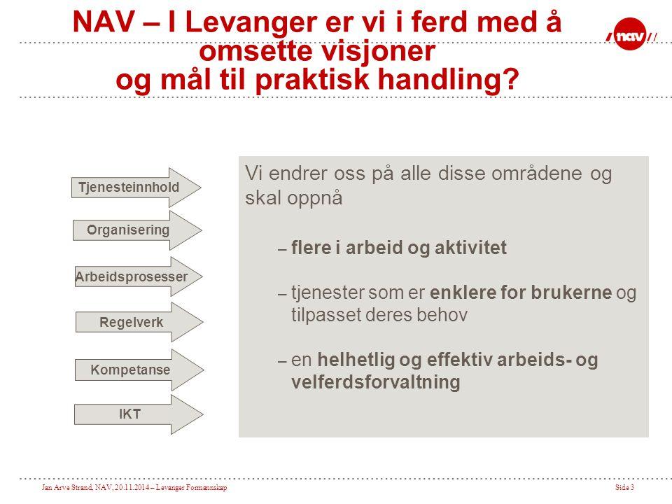 NAV – I Levanger er vi i ferd med å omsette visjoner og mål til praktisk handling